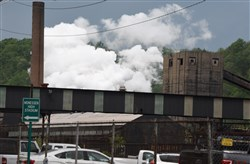 A section of the ArcelorMittal coke works complex in Monessen,