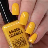 Golden Triangle is one of the colors in Gridlock Lacquer's new Pittsburgh Neighborhood nail polish collection.