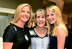 Julie Wolff Rost, left, with her mother, Bunny Wolff, and Rost's daughter, Sloan Rost, 14.
