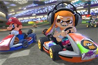 "A screen shot from ""Mario Kart 8 Deluxe."""