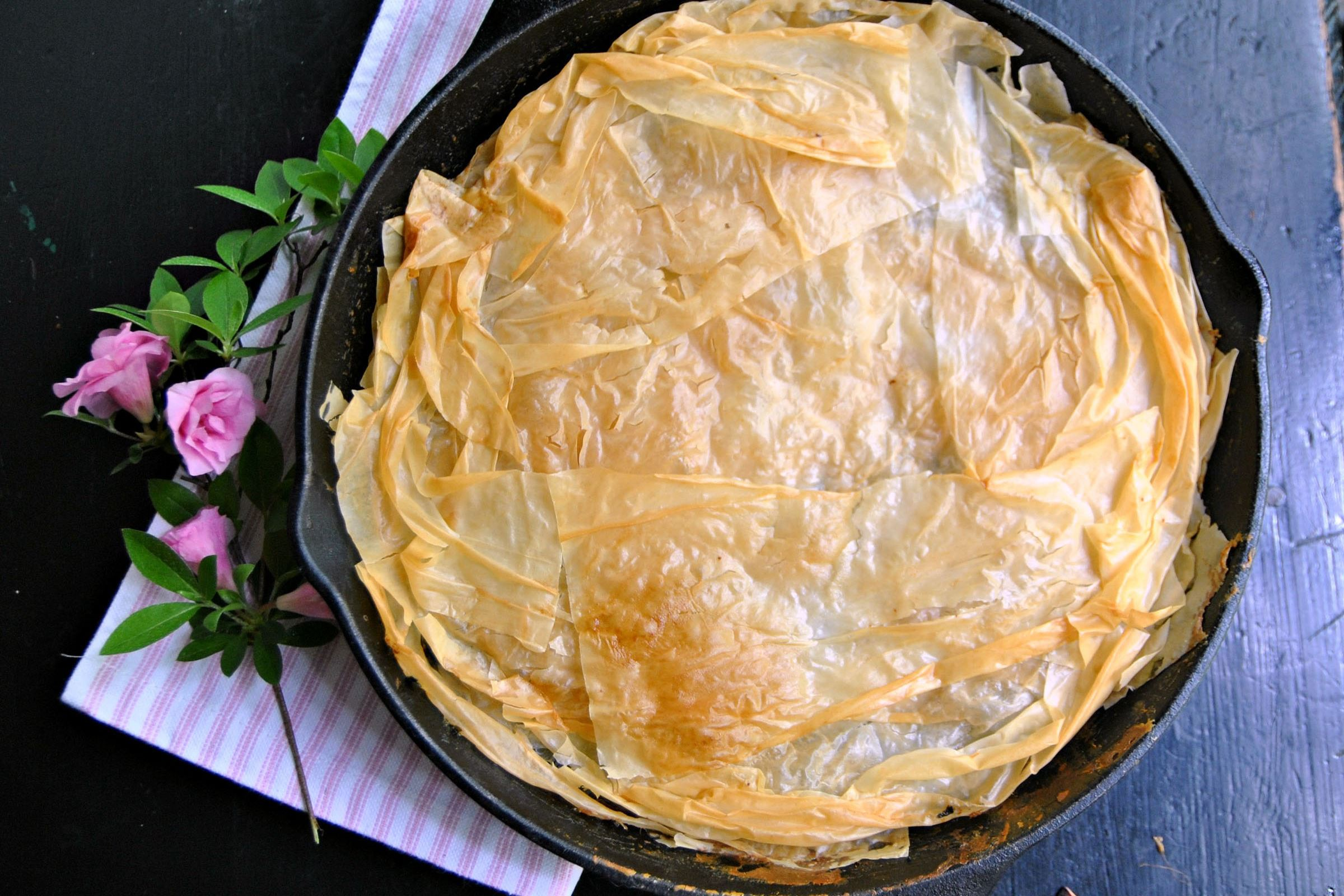 spinach-pie-5-6 Skillet Spinach Pie can be made ahead of time and served at room temperature.