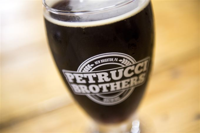 A smoked porter at Petrucci Brothers Brewing.