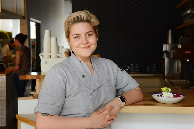 Csilla Thackray, executive chef of The Vandal in Lawrenceville. photo taken on Thursday, April 27, 2017.