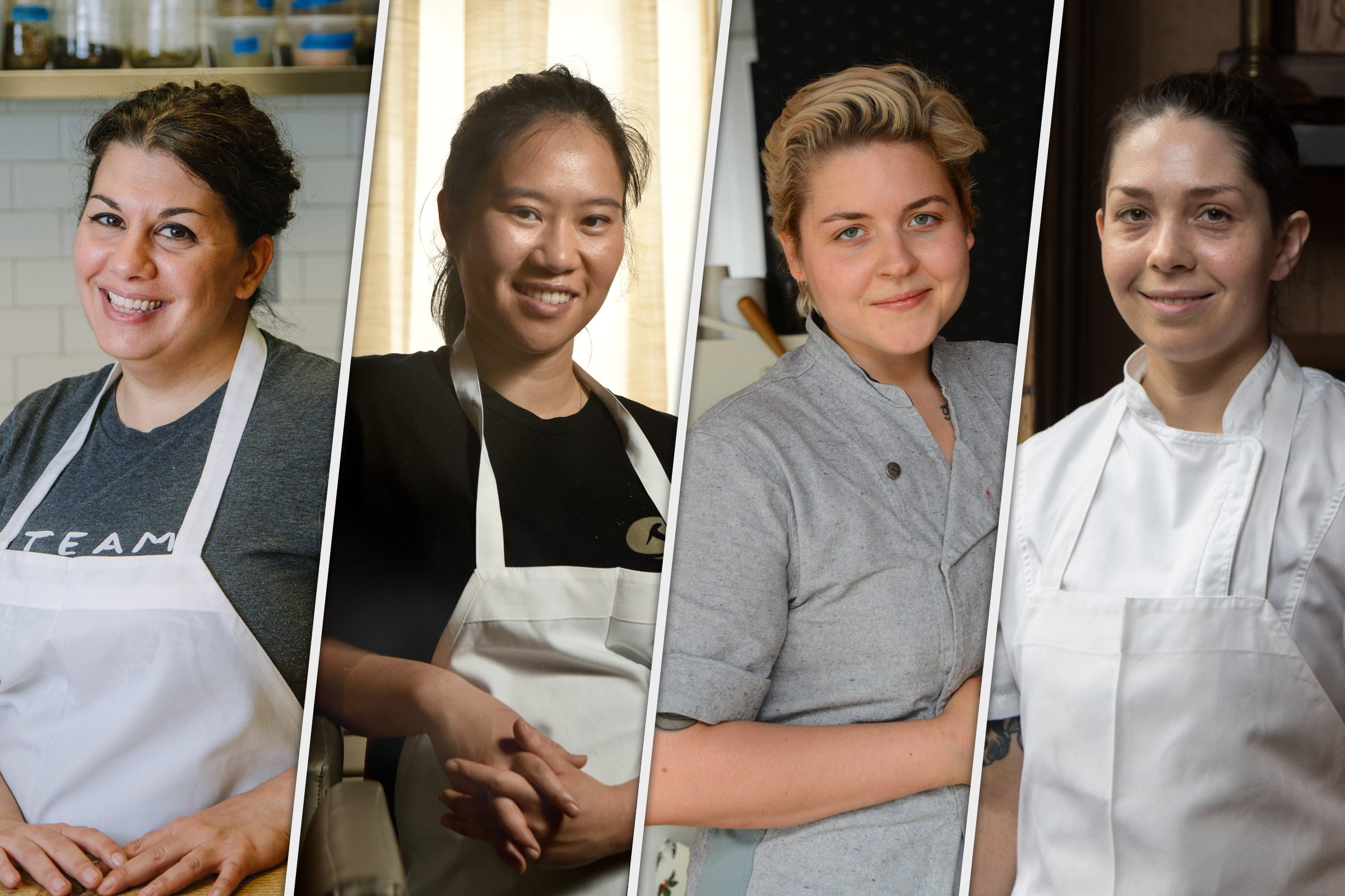 Chefs for Food package From left, Jessica George, executive sous chef at Legume in Oakland; Lily Tran, executive chef at Soba in Shadyside; Csilla Thackray, executive chef at The Vandal in Lawrenceville; and Bethany Zozula, executive chef at Whitfield at the Ace Hotel in East Liberty.