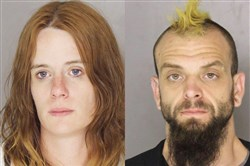 Hope Gorham and George Palmer, both charged May 10 by West Deer police with ethnic intimidation and other crimes.