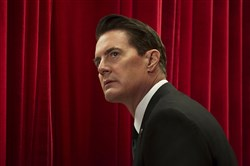 Kyle MacLachlan returns as Agent Cooper in Twin Peaks.