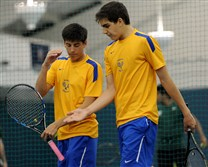 Hampton's Ted Donegan, left, and Ben Ringeisen finished runner-up in doubles last year but could be the team to beat in this year's WPIAL Class 3A tournament.