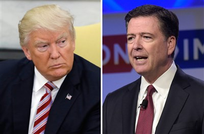 Trump warns Comey on Twitter: 'Better hope there are no tapes of talks'