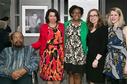 Holocaust Center of Pittsburgh: Ralph Proctor, left, Charlene Foggie-Barnett, Dominique Luster, Lauren Bairnsfather and Christina Sahovey.