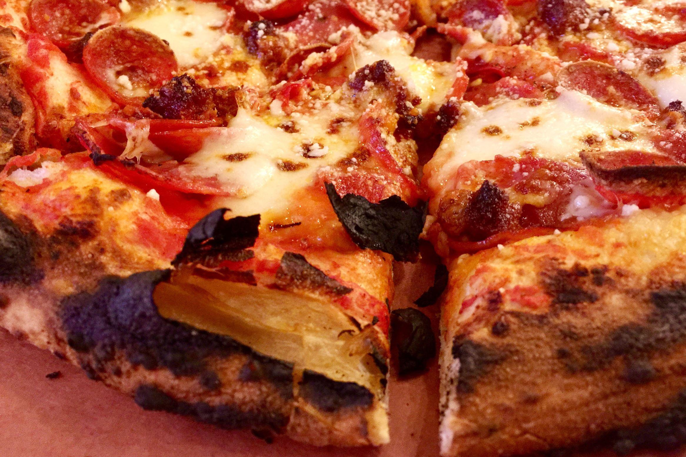 "munch dal forno 02-2 The ""Meat & Spice"" pizza at Dal Forno in North Huntington includes tomato sauce, nduja, hot soppressata, pepperoni, Calabrese peppers, and buffalo mozzarella."