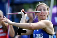 Madison Wiltrout of Connellsville, who won a WPIAL title last week, is looking for a rare four-peat in the javelin at the PIAA championships.