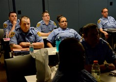 New EMTs receive a training session at the Bureau of Emergency Services in the Strip District.