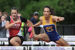 Chyna Beck, right, of Canon-McMillan is a WPIAL champ in the 100-meter hurdles, but will be a big underdog in the PIAA championships when she goes up against one of the country's best.