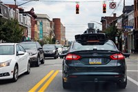 A self-driving Uber car in Pittsburgh last year. Uber has been accused by Waymo of conspiring with a former Google engineer to steal trade secrets from Google.