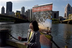 Vivien  Li  , former RiverLife President and CEO, on the North Shore of Pittsburgh Friday May 19,2017.