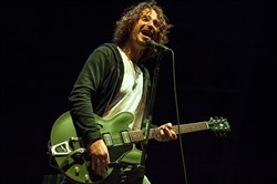 In this May 19, 2013 file photo, Chris Cornell of Soundgarden performs at Rock on the Range in Columbus, Ohio.
