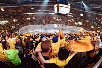 Fans cheer as the Penguins prepare to take on the Ottawa Senators at PPG Paints Arena for Game 5 of the Eastern Conference final of the Stanley Cup playoffs.