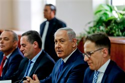 Israeli Prime Minister Benjamin Netanyahu attends a weekly cabinet meeting in Jerusalem May 21, 2017. / AFP PHOTO / POOL / RONEN ZVULUNRONEN ZVULUN/AFP/Getty Images