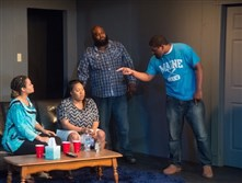 "From left, Shaun Nicole McCarthy, Shanita Bivins, Sam Lothard and Corey Lankford in ""Hercules Didn't Wade in the Water"" by Homewood native Michael A. Jones."