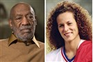 In this combination of file photos, entertainer Bill Cosby pauses during an interview in Washington on Nov. 6, 2014, and Andrea Constand poses for a photo in Toronto on Aug. 1, 1987.