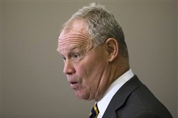 Mike Turzai, an Allegheny County Republican and Speaker of the Pennsylvania House of Representatives, talks to audience members Monday during a Pennsylvania Press Club luncheon.