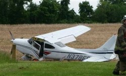 A small plane crash landed near West Chester on Sunday afternoon. Police said no one was injured.