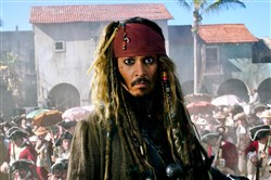 "Johnny Depp returns as Capt. Jack Sparrow in the ""Pirates of the Caribbean: Dead Men Tell No Tales."""