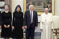The Trumps and Pope Francis.
