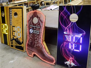 Lightning Cornhole, based in West Deer, manufactures cornhole boards with an electronic scoreboards.