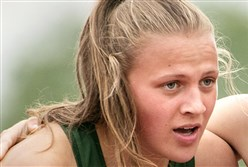 Pine-Richland's Amanda Kalin can now be considered a three-sport star.