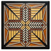 The Prairie Star tile issued for the 150th anniversary of Frank Lloyd Wright by the Frank Lloyd Wright Foundation.  The 8 X 8 tile  by Motawi Tile sells for $124.