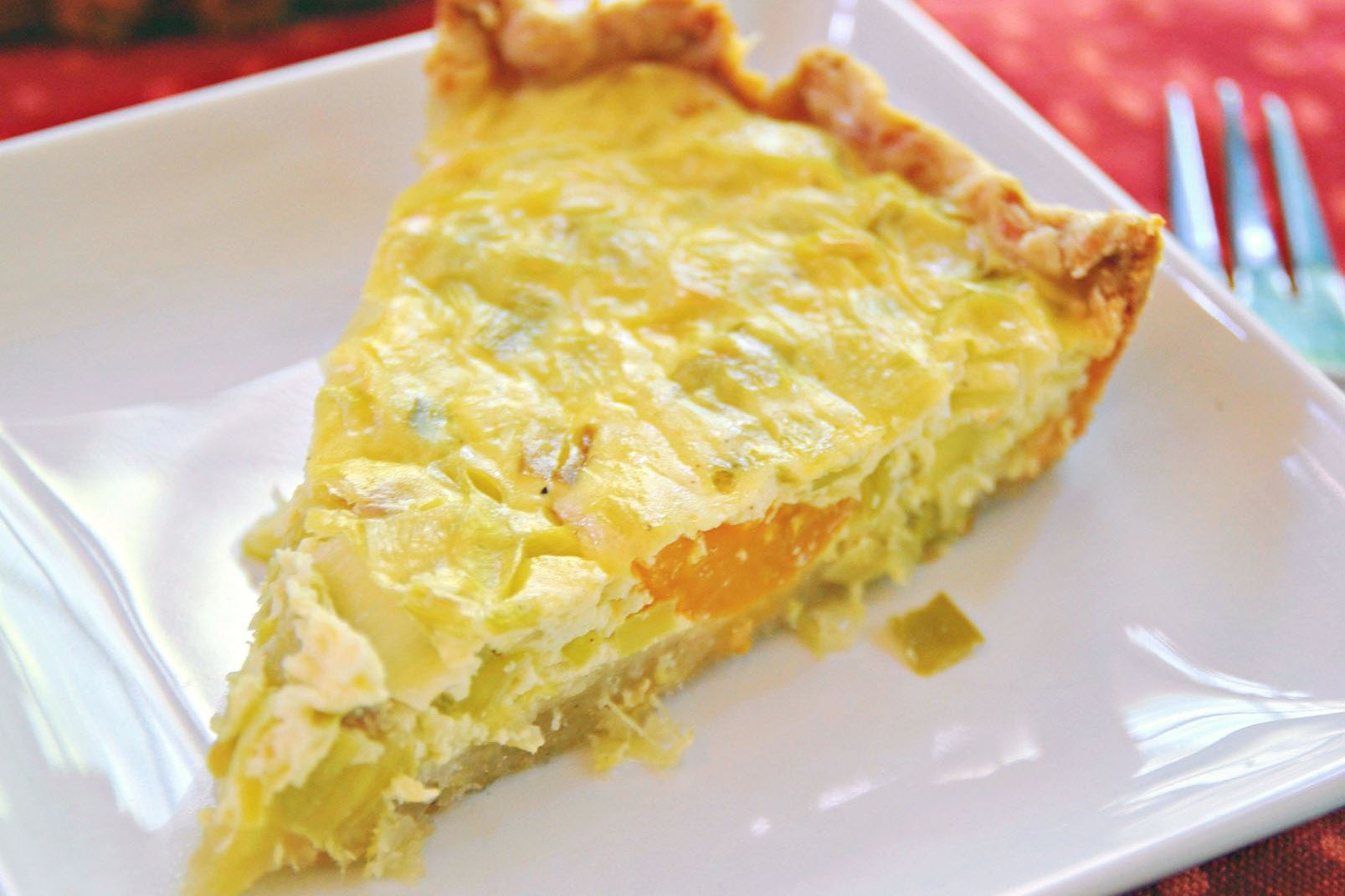 leek-flamiche Leek Flamiche with Cheese Pastry.