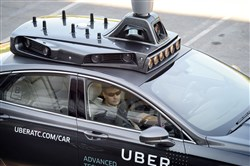 Uber's self-driving car service operates in Pittsburgh.
