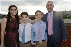 From left: Shari Zatman, twins Ryan and Alex and Jason Zatman.