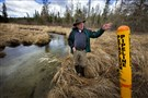 In this May 12, 2014 file photo, Paul Stolen, a retired state biologist, shows some of the sensitive wetland areas near Minnesota's Itasca State Park.