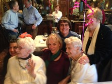 "Sarah ""Sally"" Clarke, left, and her sister, Caroline Measmer, celebrate Mrs. Measmer's 100th birthday in February with their nieces Misty Weber, far left, Pamela Eckenrode, middle, Penny Hughes and Marsha Weber."