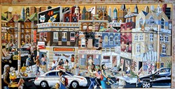 "Don Coulter's ""First Avenue Part II: Urban Decay,"" featured in the Dollar Bank Three Rivers Arts Festival 2017 Juried Visual Art Exhibition."