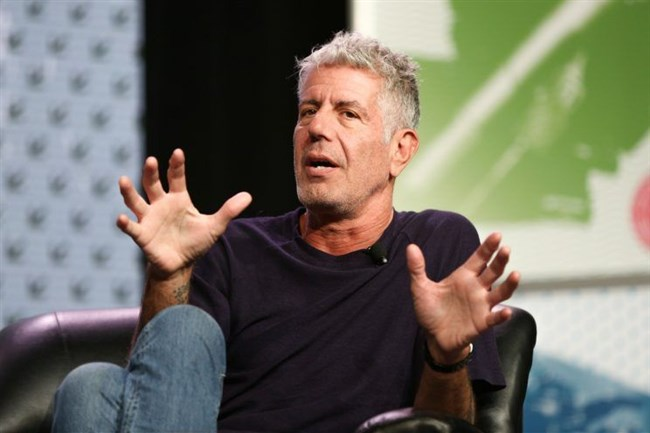 Chef and TV personality Anthony Bourdain speaks in Austin, Texas, in 2016.