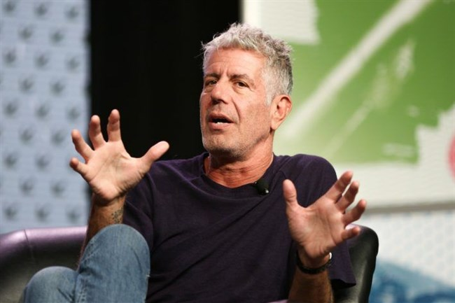 """Chef and TV personality Anthony Bourdain is currently in West Virginia working on an episode for his CNN show, """"Parts Unknown."""""""
