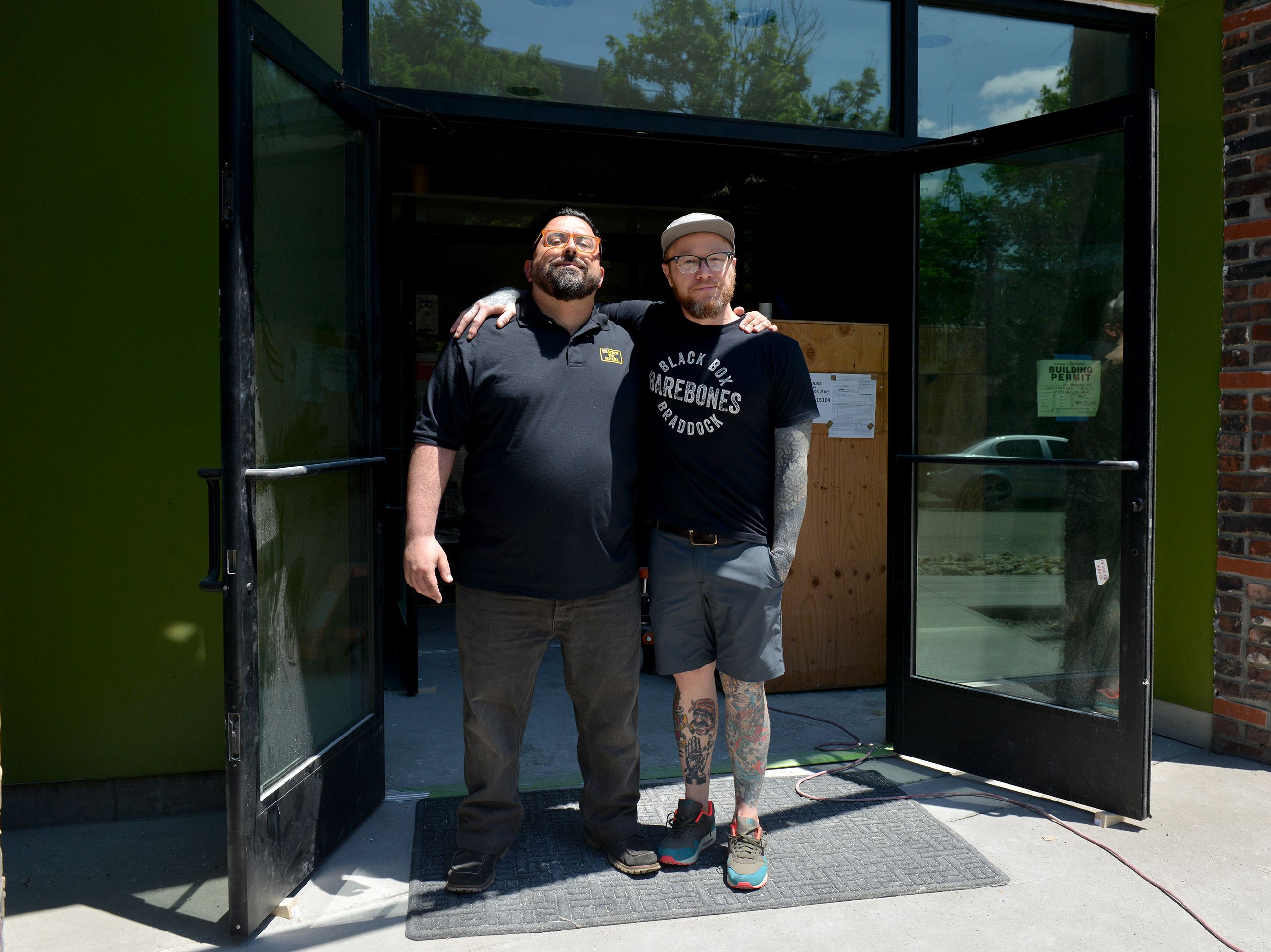 20170609ppSuperiorMotors2LOC-1 From left, Chris Clark, general manager and Kevin Sousa, owner of Superior Motors at the main entrance to the Braddock restaurant.