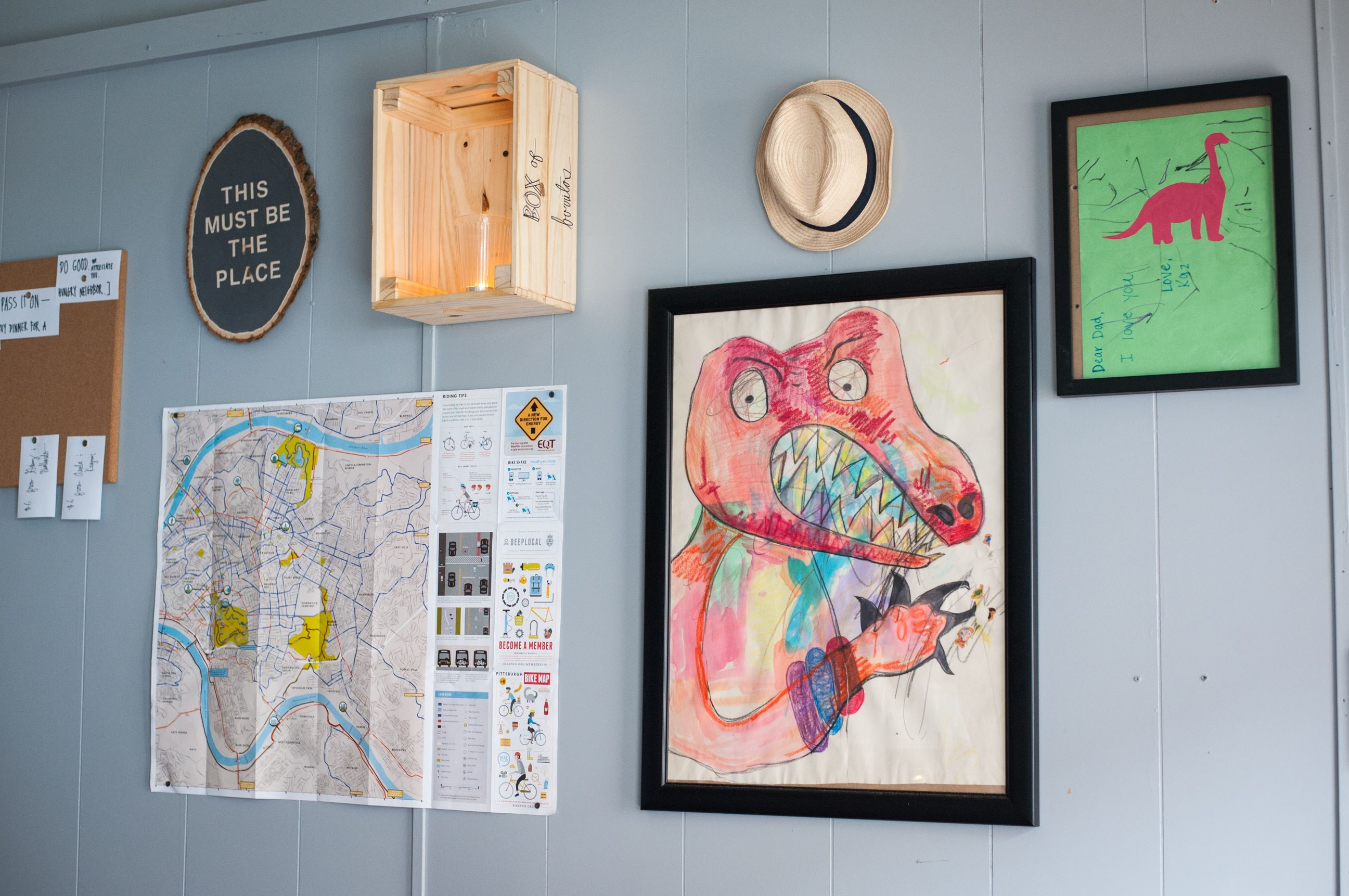 20170608smsTacos04-3 Zack Shell of Point Breeze hung his son's art on the wall of his new restaurant, Baby Loves Tacos.