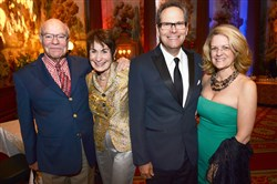 From left Mike and Jean Strunsky of the Gershwin Estate with Pittsburgh CLO leader Van Kaplan and wife Mary Jane Brennan.