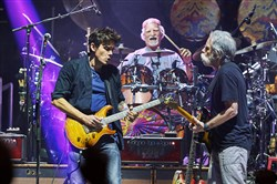 John Mayer, Bill Kreutzmann  and Bob Weir of Dead & Company in concert.  The group will perform at Keybank Pavilion.
