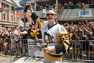Jake Guentzel's rookie season started with a goal on his first shot and ended with a Stanley Cup celebration.
