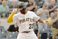 Andrew McCutchen crosses home plate June 13 against the Rockies at PNC Park.