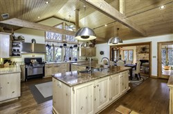 The custom kitchen is by Purdy's Design Studio in Cleveland.