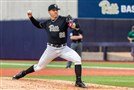 Pitt right-hander Josh Falk delivers in a game against Miami this season.