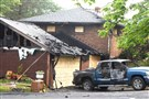 Site of a fatal fire at 269 Bower Hill Road in Peters Township Friday morning, the day after a late-night blaze swept through an elderly man's home.