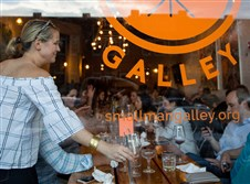 Restaurant patrons wait for their food at Smallman Galley in the Strip District.