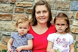Jamie Corman, center, with daughter Lillian, 1, on left, and granddaughter Claire Shreckengast, 2, on right.